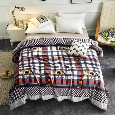 2020云貂绒毛毯法兰绒毛毯珊瑚绒毛毯午睡毯法莱绒床单盖毯 120*200cm 英伦格调
