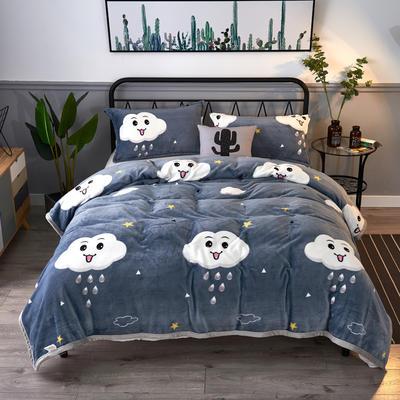 2020云貂绒毛毯法兰绒毛毯珊瑚绒毛毯午睡毯法莱绒床单盖毯 120*200cm 云朵