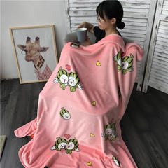 法芙娜家纺 双层儿童云毯 法兰绒加厚毛毯 空调毯 100*130cm 小西瓜