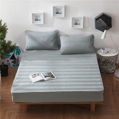 法芙娜家纺 双面水洗夹棉床笠(四季款) 120cmx200cm 灰白色