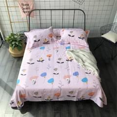 法芙娜家纺 2018纯棉亚麻凉席三件套(总) 1.8m(6英尺)床 点墨成画