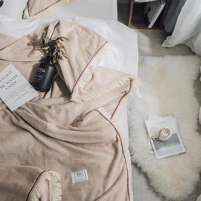 (总)法芙娜家纺 2019秋冬新款 400克加厚吸湿毯 吸湿排汗 150cmX200cm 驼色
