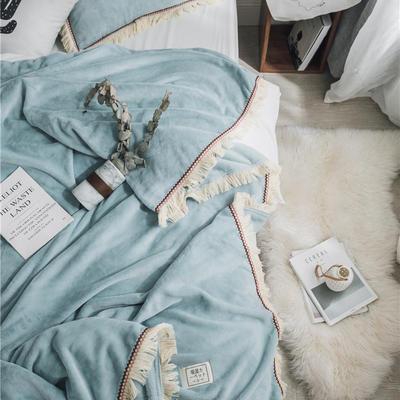 (总)法芙娜家纺 2019秋冬新款 400克加厚吸湿毯 吸湿排汗 200cmx230cm 蓝色