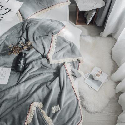 (总)法芙娜家纺 2019秋冬新款 400克加厚吸湿毯 吸湿排汗 1.5米+枕套一对 墨绿