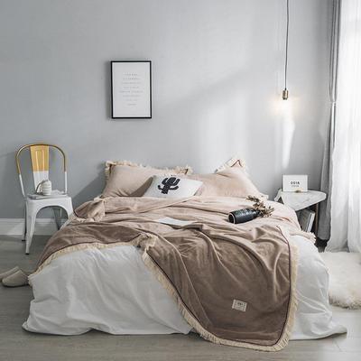 法芙娜家纺 2019秋冬新款 400克加厚吸湿毯 吸湿排汗 驼色 150cmX200cm 驼色