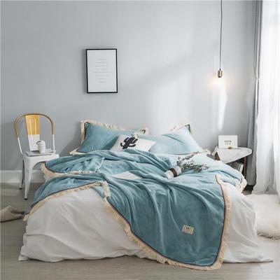 法芙娜家纺 2019秋冬新款 400克加厚吸湿毯 吸湿排汗 蓝色 200cmx230cm 蓝色