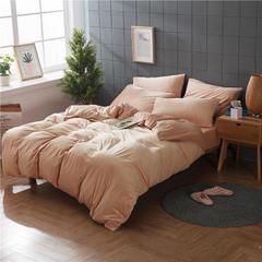 法芙娜家纺 2018天鹅绒四件套 有床单款和床笠款(总) 1.2m(4英尺)床 藕粉