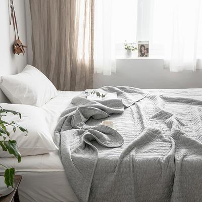 法芙娜家纺 2019无印良品风 全棉天竺棉夏凉被空调被 纯灰色 100x150cm 纯灰色