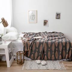2019 法芙娜 四层纱竹纤维凉感盖毯 夏被 送包装 150x200cm 鱼趣-咖
