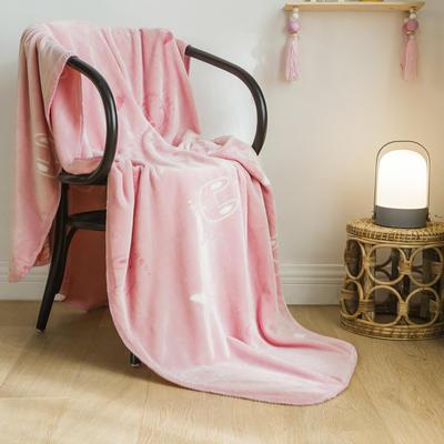 法芙娜家纺 双层卡通云毯 法兰绒加厚毛毯 空调毯 粉色兔子 100*135cm 粉色兔子