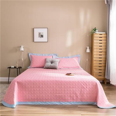 (总)法芙娜 2019新款 全棉砂洗床盖三件套 正反面13372 床盖240*250cm+枕套一对 粉色