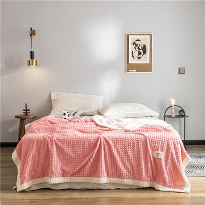 (总)2019 法芙娜 双层加厚菠萝毯 法兰绒毛毯 法莱绒毯子 150cmX200cm 西瓜红