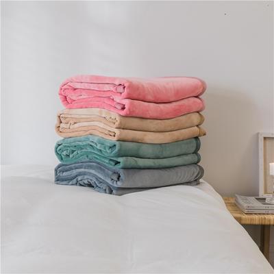 (总)法芙娜 2019秋冬新款 无印良品风毛毯单色条纹毯子 180cmX200cm 纯色灰色