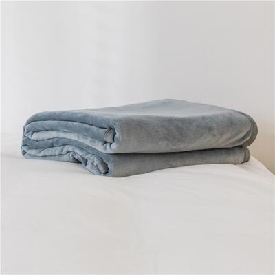 法芙娜 2019秋冬新款 无印良品风毛毯单色条纹毯子 纯色灰色 100*150cm 纯色灰色