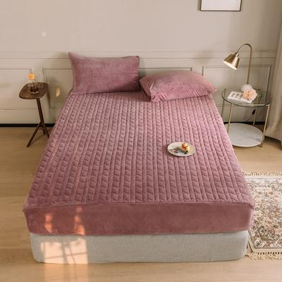 2020新款吸湿牛奶绒夹棉保暖床笠(可选三件套) 180cmx200cm单床笠 魅力紫