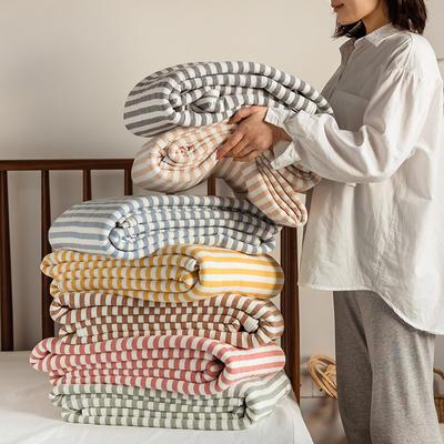 (总)法芙娜家纺 2021新款 针织棉夏被 全棉天竺棉夏凉被 150x200cm 纯色豆沙