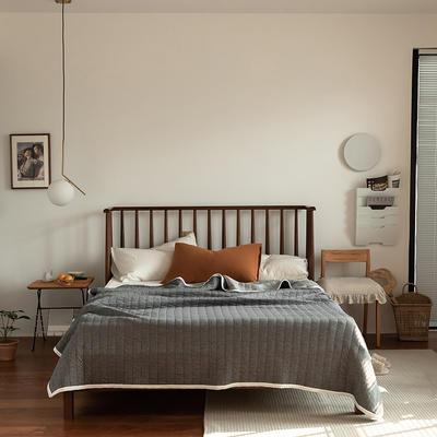(总)法芙娜家纺 2021新款 针织棉夏被 全棉天竺棉夏凉被 150x200cm 纯色深灰