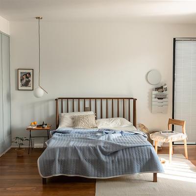 (总)法芙娜家纺 2021新款 针织棉夏被 全棉天竺棉夏凉被 150x200cm 纯色天蓝