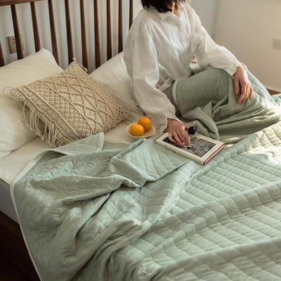 法芙娜家纺 2021 针织棉夏被 全棉天竺棉夏凉被 纯色豆绿 150x200cm 纯色豆绿