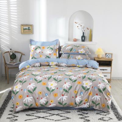 2020新款133*72全棉四件套套件 1.8m四件套床单款 甜心花语