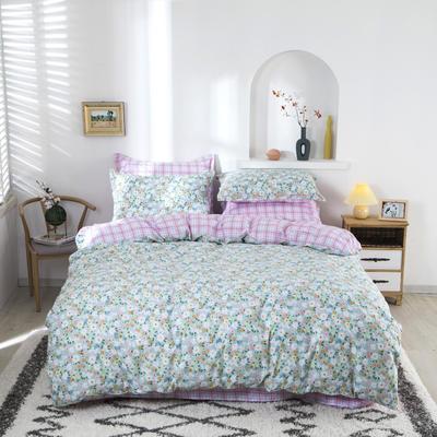 2020新款133*72全棉四件套套件 1.8m四件套床单款 温情点点
