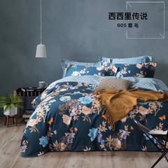 60支双古长绒棉磨毛 1.5m(5英尺)床 猫