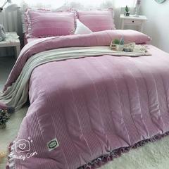 韩版韩国绒夹棉绗缝 1.8m(6英尺)床 1主图