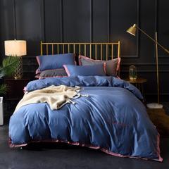 2020新款纯色拼角绣花四件套(可顺丰代发) 1.5m(5英尺)床单款 1
