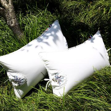 沃兰国际 全棉花草压缩保健枕芯(薰衣草+茉莉花)护颈安睡枕头