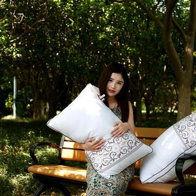 全棉酒店刺绣立体护颈枕芯五星级枕头芯 酒店风刺绣立体护颈枕