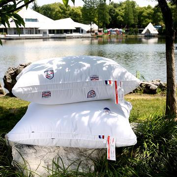 沃兰国际 全棉贡缎印花护颈立体枕芯安睡助眠枕头