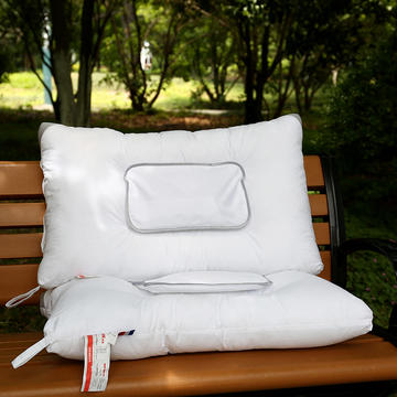 素雅全棉水洗棉定型枕芯(可选药包)保健护颈枕头