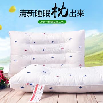 沃兰国际全棉小鸭决明子透气护颈保健枕芯定型立体枕头