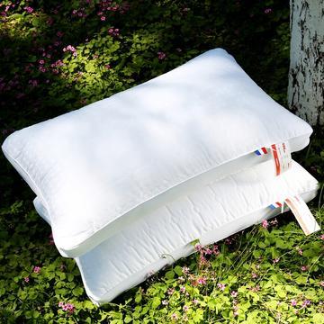 沃兰国际 全棉酒店加高立体护颈枕芯五星级枕头芯 酒店风刺绣立体护颈枕