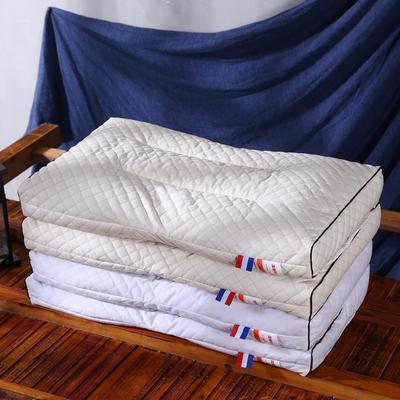 全棉立体荞麦枕头全荞麦壳枕芯护颈枕荞麦皮儿童单人硬枕特价 全棉立体全荞麦保健枕(本白)