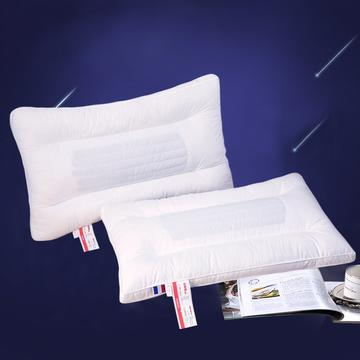 沃兰国际全棉中条荞麦护颈保健枕芯 立体定型硬枕头