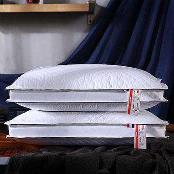 全棉加高绗缝立体护颈枕芯五星级枕头双边保健枕