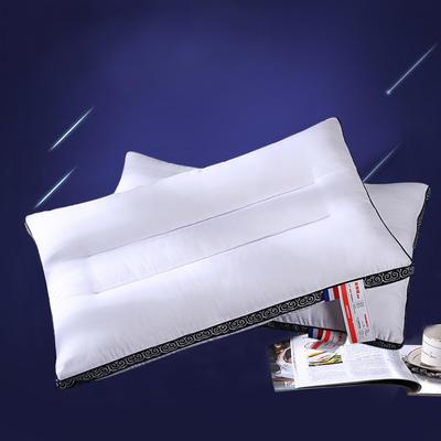 全棉酒店织带立体护颈枕芯五星级定型枕头芯 本白