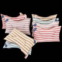 沃兰国际 超柔磨毛色彩U型枕芯 保健护颈枕头(可操作爆款四色可选) 蓝白