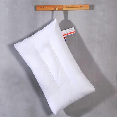 水洗棉羽丝绒枕芯糖果色单人枕头护颈舒适枕(七色) 白色