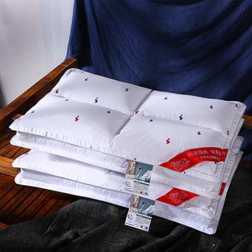 沃兰国际 全棉贡缎小鸭魔方护颈立体枕芯四方格助眠枕头