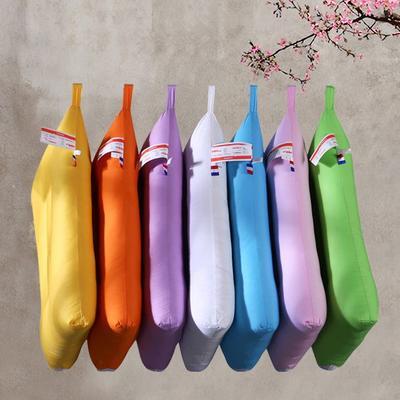 水洗棉羽丝绒枕芯糖果色单人枕头护颈舒适枕(七色) 蓝色