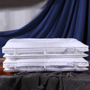 全棉双层复合护颈保健枕芯 立体定型两用枕头