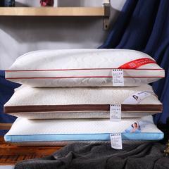 沃兰国际 超柔针织定型热熔棉可水洗枕芯保健护颈枕头 针织棉热熔棉定型枕-蓝边