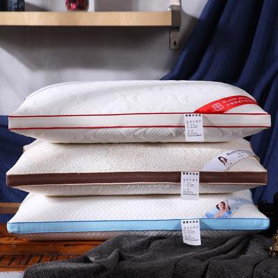 超柔针织定型热熔棉可水洗枕芯保健护颈枕头 针织棉热熔棉定型枕-粉边