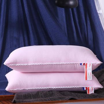 超柔磨毛水洗羽丝绒枕芯护颈保健枕头(三色可选)