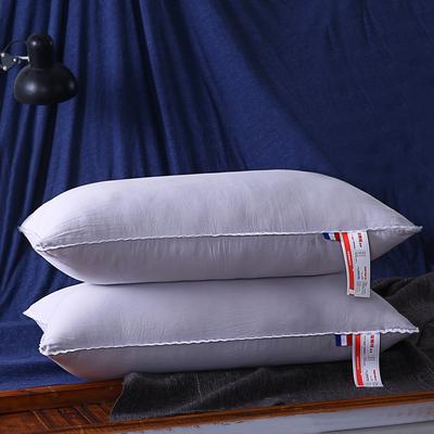 超柔磨毛水洗羽丝绒枕芯护颈保健枕头(三色可选) 灰色