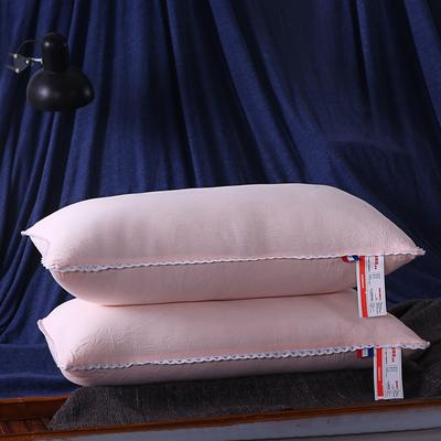 超柔磨毛水洗羽丝绒枕芯护颈保健枕头(三色可选) 玉色