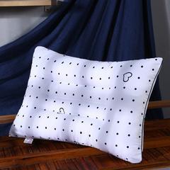沃兰国际 超柔磨毛定型护颈立体枕芯安睡助眠枕头 圆点爱心