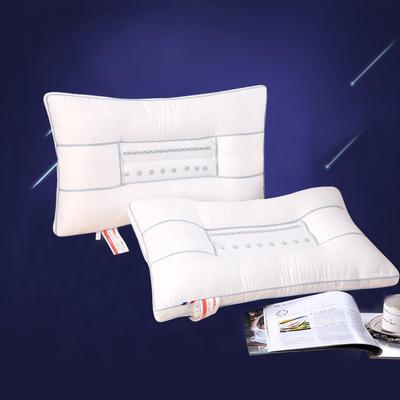 全棉磁疗透气护颈保健枕芯(三色可选)保健护颈枕头 全棉中网磁疗护颈枕